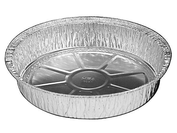 "HFA 10"" Round Silver Foil Pan 4050-35 (250ct)"