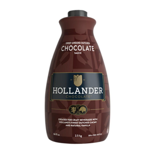 26-00612 - Hollander Barista Sweet Ground Dutched Chocolate Sauce 6/64oz
