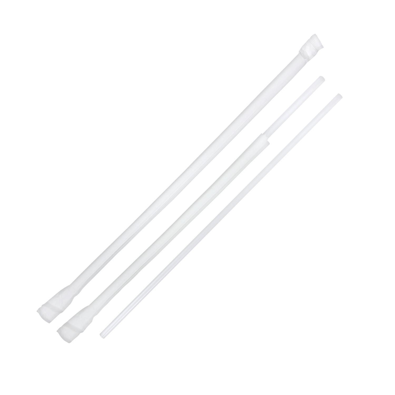 Mega Tea Straw Jumbo Wrapped 10.25in Clear 4/500ct; 2000/cs; 6mm Diameter