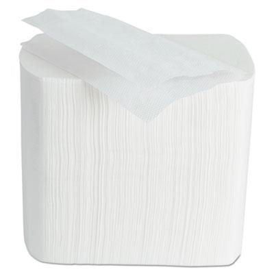 MORCON Interfold Dispenser Napkins, 1-Ply, White, 6.5 x 8.25, 6,000/Carton
