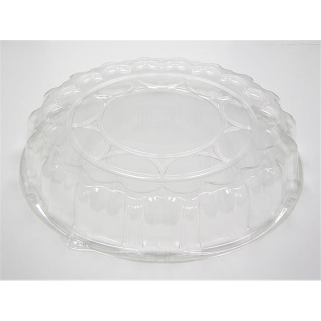 "Pactiv P9818 Clear Plastic 18"" Dome Lid 50ct"