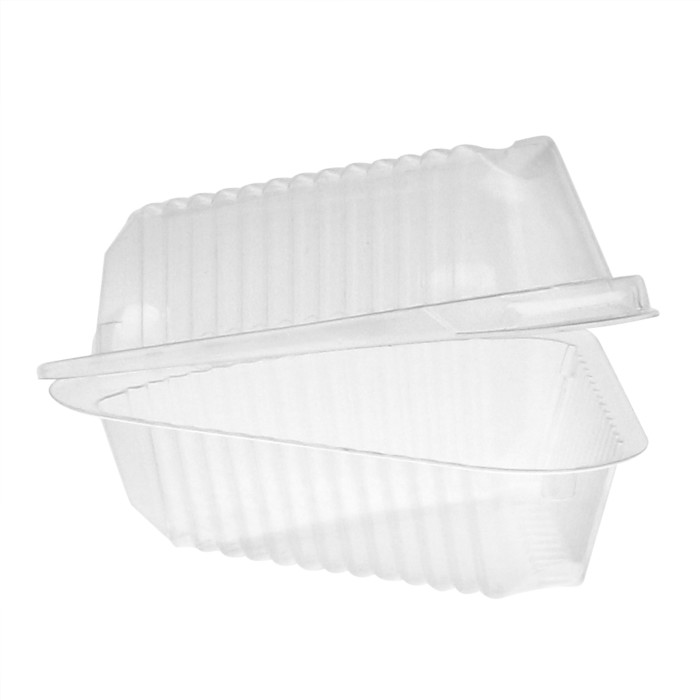 """Pactiv 9"""" Pie Wedge Deep Lid Showpie® OPS Hinged Container 0CI890190000 - 504ct"""