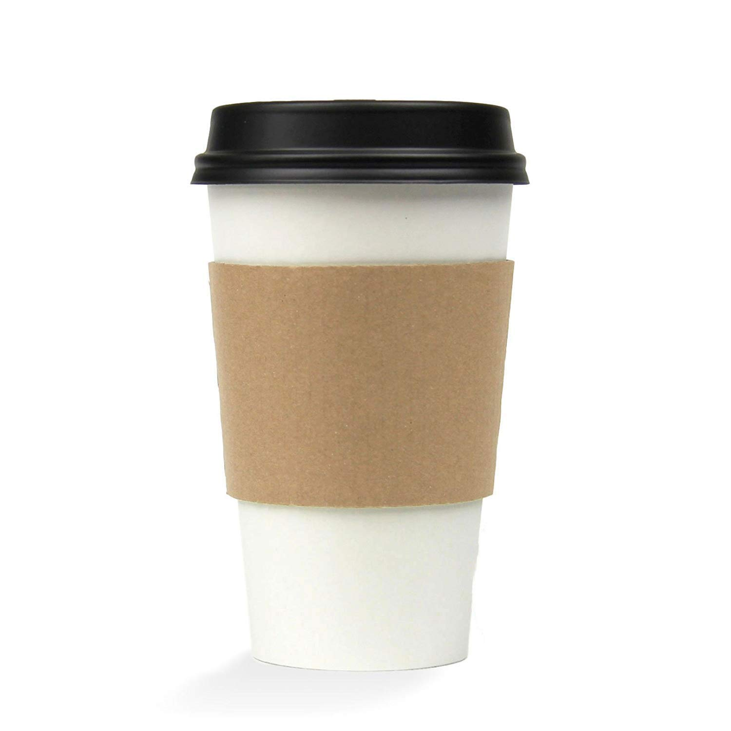 Hot Tea/Shake Cup & Lid Combo - Regular Size 1,000 ct (Shown with optional hot sleeve)