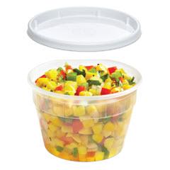 Placon 16 oz. Clear Polypro Classic Line® Deli Cup/Recessed Lid Combo CL016/1532  250/250 ct