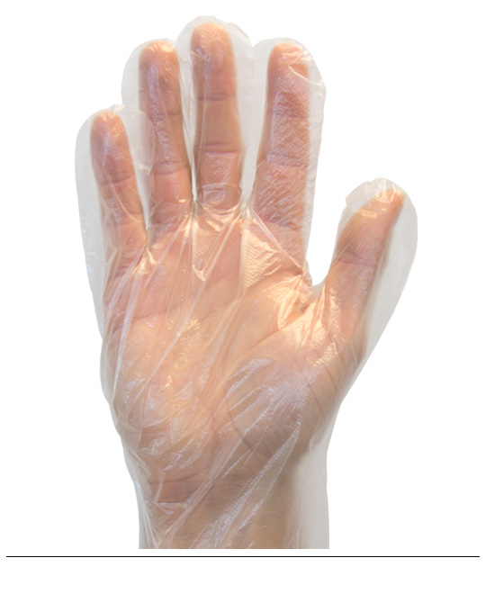 Disposable Poly Food Prep Gloves (10/100ct) MED