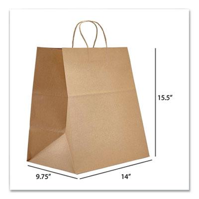 PT Kraft Paper Bags Super Royal 14 x 9.75 x 15.5 Natural 200/Carton