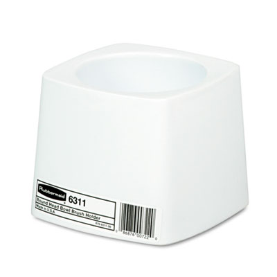 18-RCP631100WE - RubberMaid Holder for Toilet Bowl Brush White Plastic