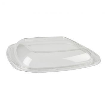 Sabert Dome Square Lid for 80 & 160 oz Bowl PETE Bowls 54160B50 - 50ct