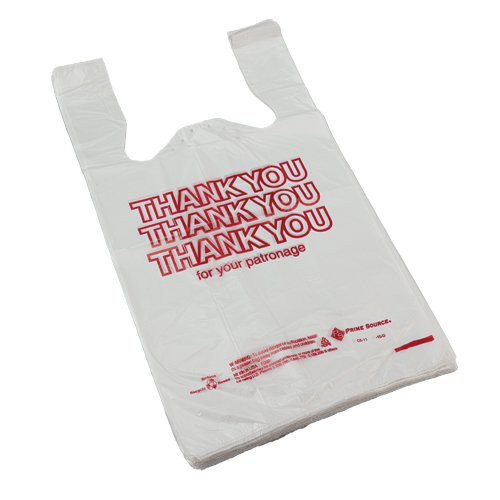 T-Sack - Thank You Bag 12 mic 11.5x6.5x21 1/6 Barrel (1,000 ct)