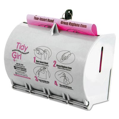 Stout Plastic Feminine Hygiene Disposal Bag Dispenser Gray