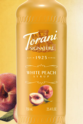 Torani Signature White Peach 750 ml 12/cs