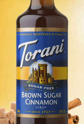 Torani Sugar Free Brown Sugar Cinnamon Syrup 750 ml