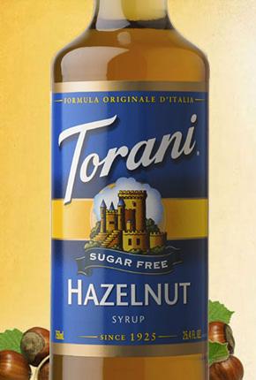 Torani Sugar Free Hazelnut Classic Syrup 750 ml