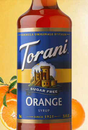 Torani Sugar Free Orange Syrup 750 ml