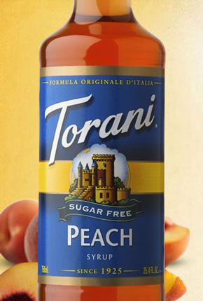 Torani Sugar Free Peach Syrup 750 ml