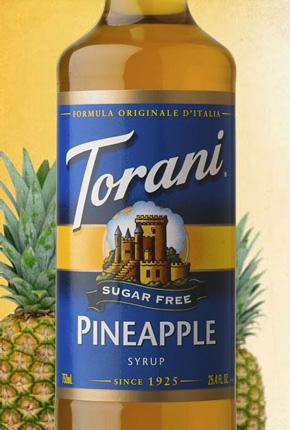 Torani Sugar Free Pineapple Syrup 750 ml