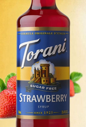Torani Sugar Free Strawberry Syrup 750 ml