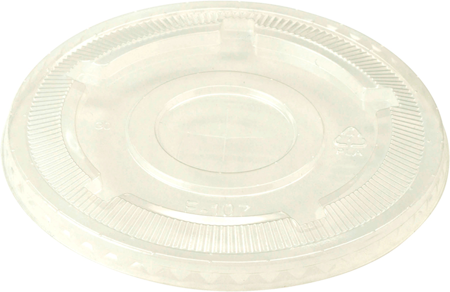 18-213986 - WCT Ingeo Flat Lid SS Clear Compostable 1,000 ct